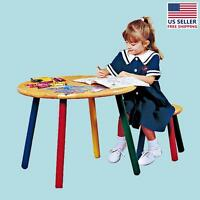 Children's Hardwood Table And Stool Colorful Painted Legs | Renovator's Supply on sale