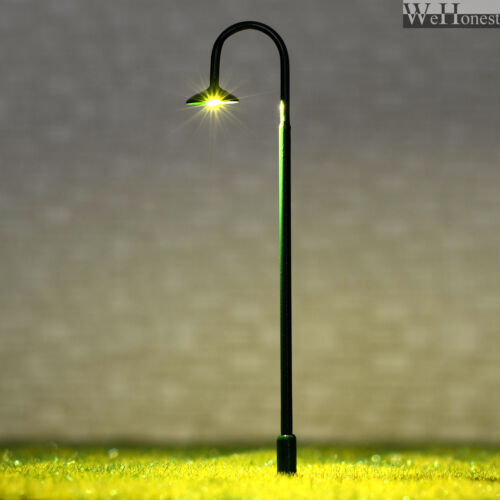 HO Scale Led Street Light Model Train Railroad path Lamp post #705BG 5 x OO