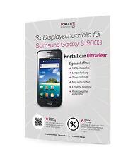 3x Displayschutzfolie für Samsung Galaxy S i9003 GT-I9003 Schutzfolie Klar Clear