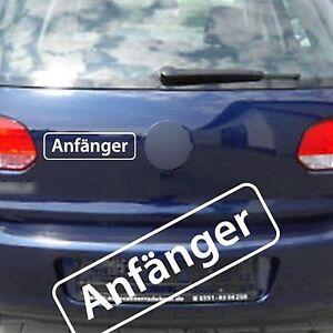 Anfaenger-Aufkleber-Sticker-21x6cm-freie-Farbwahl
