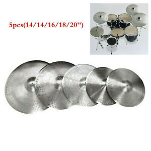 Low-Volume-Quiet-Silent-Cymbal-Pack-5pcs-with-Bag-14-039-039-16-039-039-18-039-039-20-039-039-inch