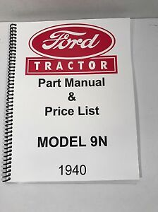 ford 9n tractor parts manual 1940 ebay