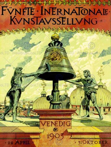 VINTAGE ADVERT FIFTH INTERNATIONAL EXHIBITION VENICE FINE ART POSTER CC4705