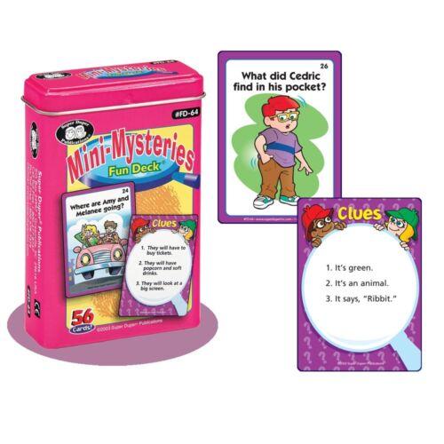 Mini Mysteries Flash Cards Super Duper Fun Deck Problem Solving Detective Social