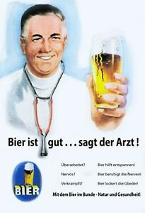 Beer-Is-Well-Sagt-Der-Arzt-Tin-Sign-Shield-7-7-8x11-13-16in-FA0436