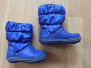 new styles 9add5 8a74d Details zu *Top*Crocs Winter Puff Boot Kinder Gummistiefel Winterstiefel  blau Gr.24/25 Kids