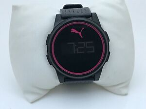 Puma-Men-Watch-Digital-Sport-Black-Rubber-Band-Water-Resistant-3-Bars
