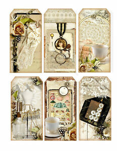 Lace-Large-Tag-Style-Glossy-Finish-Card-Making-Toppers-Crafts-Embellishment