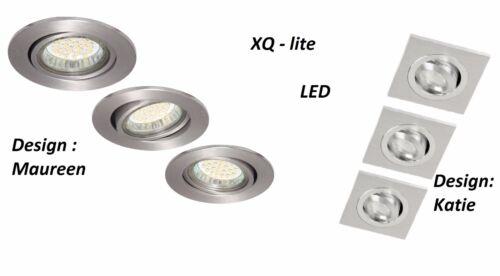 3er Einbauspot Einbaustrahler Aluminium schwenkbar Deckeneinbaustrahler Spot LED