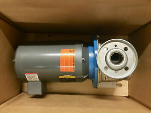 XYLEM-GOULDS-SSH-4SH2K51D0-7-5-HP-316-STAINLESS-STEEL-END-SUCTION-WATER-PUMP