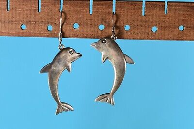 Porpoise Dolphin Hoop Vintage Sterling Charm