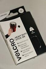 Heavy Duty 45mm Autoadhesivas negro de velcro Hook & Loop monedas 6 gancho y bucle de 6