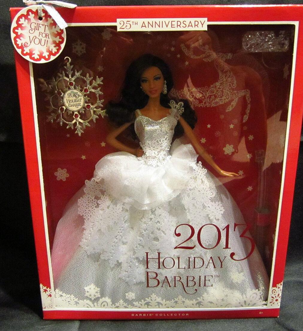 2013 Vacaciones Barbie 25th aniversario afroamericano con Ornamento Tema de Wal Mart