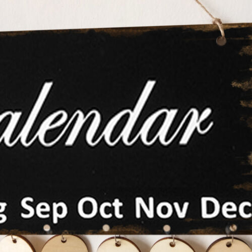 Family Birthday Board Plaque DIY Hanging Wooden Birthday Reminder Calendar tl