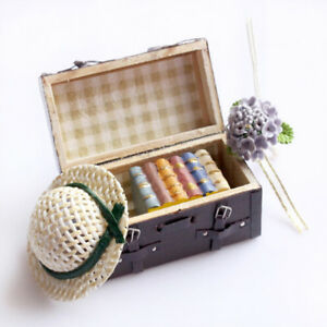 Dollhouse-Vintage-Miniature-Carrying-Suitcase-Luggage-Decor-Drop-Shipping-BS