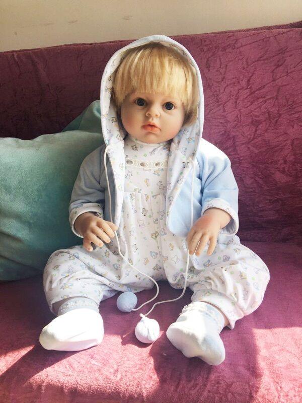 28  Recién Nacido Niño Bebé Niño Reborn Muñeca De Juguete De Silicona Vinilo acompañar a niños regalo