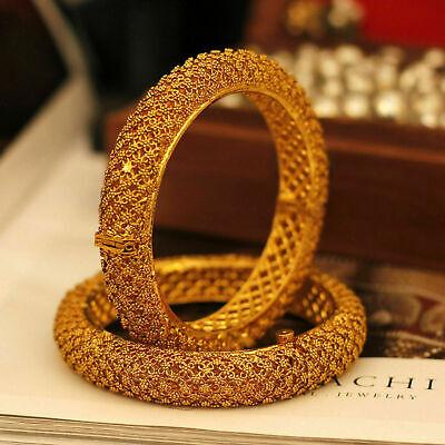 Indian Antique Gold Plated Bangle Polki Kade Bracelet Bridal