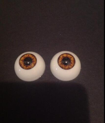 22mm Pabol New Hazel Reborn Doll Eyes Acrylic half round FAST SHIPPING