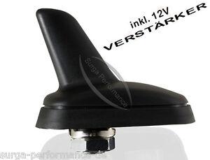 KFZ-Antenne-Dachantenne-Shark-mit-RAKU-2-mit-Verstaerker-fuer-VW-AUDI-SKODA-SEAT