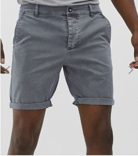 Pantaloncini nuova Lavato Pantaloni Chino Estate Da Uomo Smart Casual Lavoro Mezza Pantaloni in twill di cotone