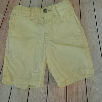 Boys' Clothing (newborn-5t) Reasonable Old Navy Yellow Flat Uniform Cotton Shorts Elastic Adjustable Waist Sz 2t Chills And Pains