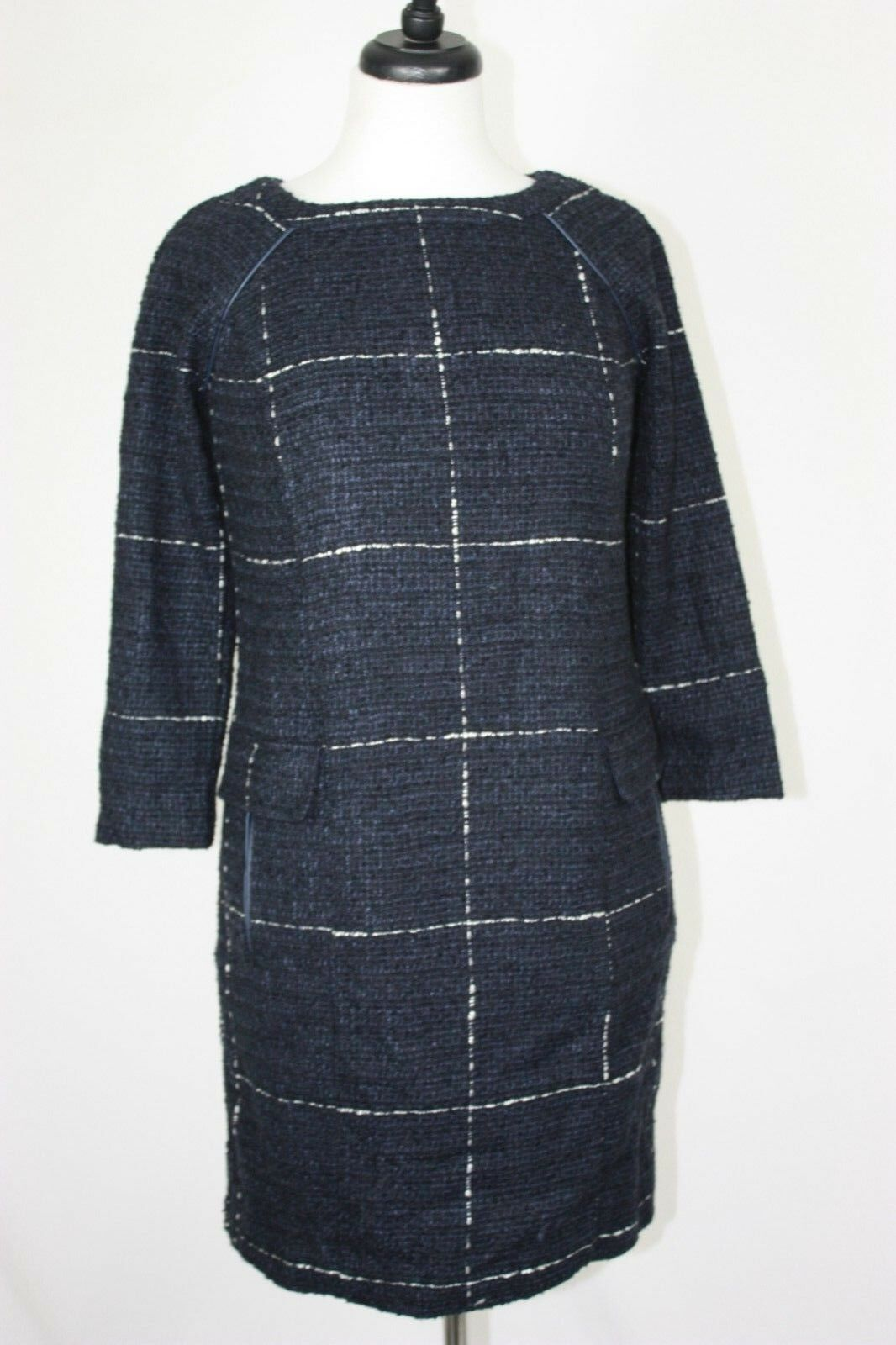 NWT Joules Womens Esther Navy Tweed Shift Dress Sz. 2