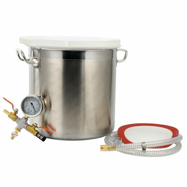 5 Gallon Vacuum Degassing Chamber Resin Silicone Epoxy Metal Extract Solvent