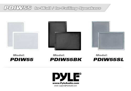 NEW Pyle PDIW55 150W 5.25/'/' 2-Way In-Wall Speakers System 8 LOT OF