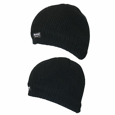 NEW MENS THERMAL WINTER WARM FLEECE LINED OUTDOOR HIKING SKI BEANIE HAT