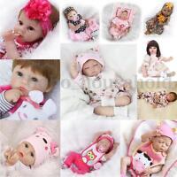 Handmade Lifelike Full Silicone Reborn Baby Doll Newborn Girl Vinyl Realistic