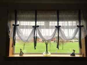 WHITE-VOILE-NET-TIE-BLINDS-WITH-COLOURED-TIES-EXCLUSIVE-DESIGN-8DIFFERENT-WIDTHS