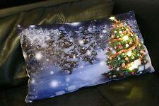 LED Kissen, Leuchtkissen, Weihnachtsbaum,3LED,samtweiche Qualität,46x26cm,