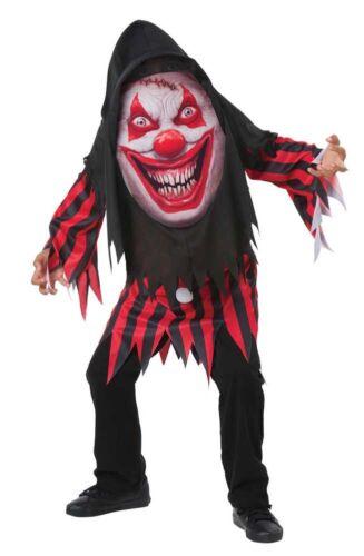Bambino Clown Pazzo Creeper Costume Età 7-9 anni