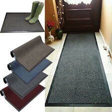 HEAVY DUTY NON SLIP RUBBER BARRIER MAT LARGE& SMALL RUGS BACK DOOR HALL KITCHEN