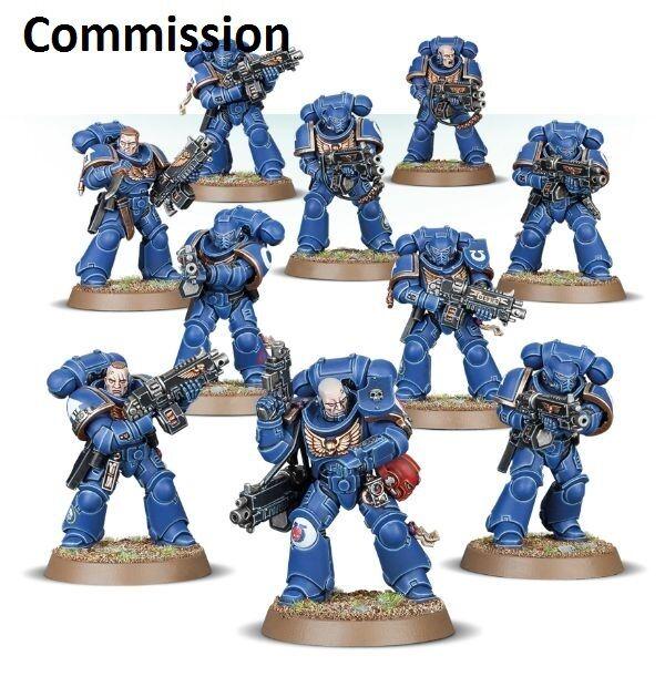 Primaris copartícipes marines espaciales  Comisión  magníficamente pintado warhammer 40K