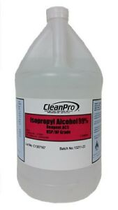 CleanPro® Isopropyl Alcohol (IPA) USP-Grade 99%, Case of 4 Gallons