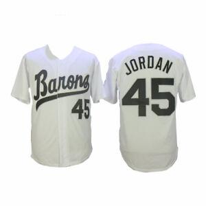 Michael Jordan 45 Barons Blanc Maillot De Baseball Birmingham Uniforme Cousu 50% De RéDuction