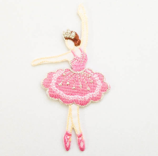 Ballerina Ballet Girl Dance Sew Iron on Patch Embroidered Appliques Craft I0975