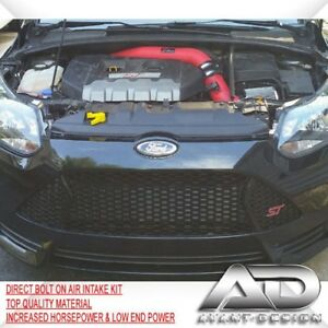 Focus St Cold Air Intake >> Details About For 2013 2017 Ford Focus St 2 0l 2 0 Turbo Af Dynamic Cold Air Intake Kit Red