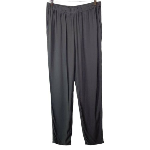 Eileen Fisher Georgette Crepe Slouchy Ankle Pants