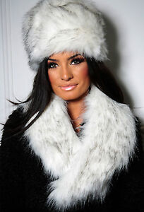 ladies faux fur russian hat cossack hat black white grey burgundy fe92000c891