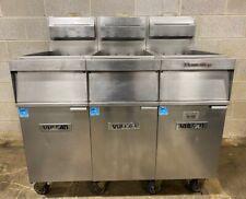 Vulcan 1vk45a 3 Bay Powerfry Natural Gas Deep Fryer Works Great Nice Unit