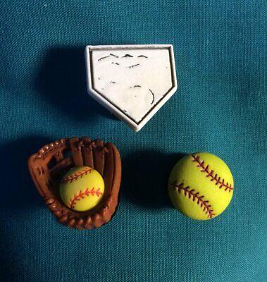 HOME PLATE Home Base Baseball Softball Sports Croc Hole Accessories Shoe Charm