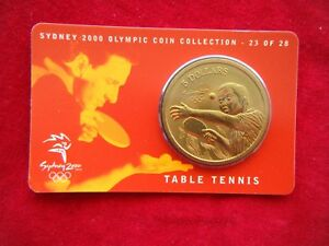 Sydney-2000-Olympic-Coin-Collection-5-UNC-RAM-Coin-TABLE-TENNIS-23-28
