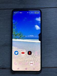 Samsung Galaxy S10+ SM-G975 F Ds- 128Go - Écran Cassé Double Puce