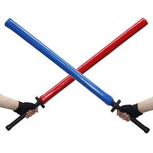 Chanbara-Sponge-Foam-Swords-Sticks-100cm-2pcs-Set-Sparring-Cudgel-Samurai-Kendo