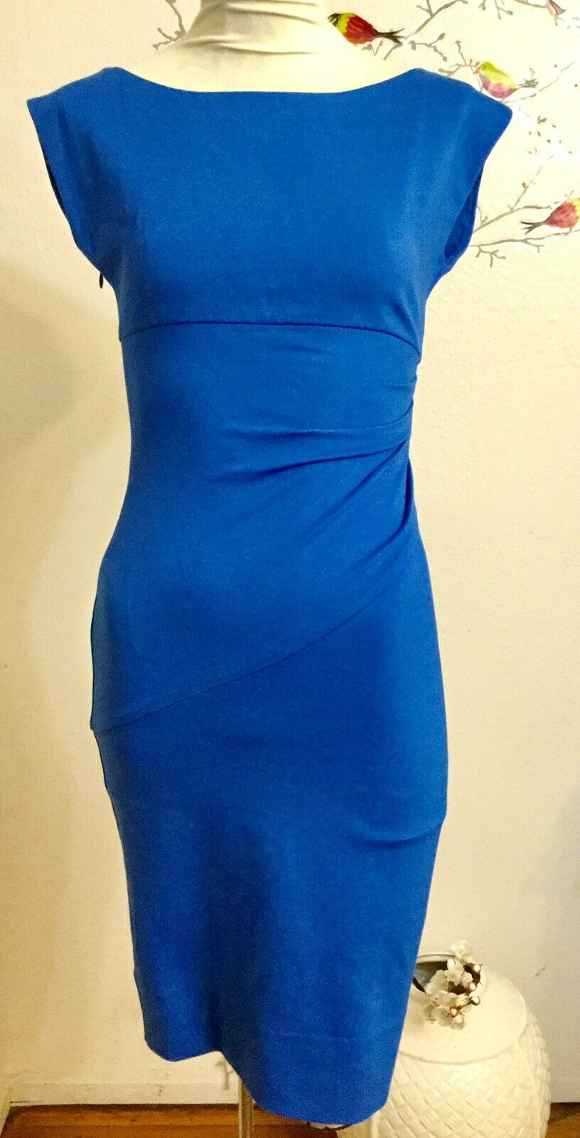 Diane Von Furstenberg Woherren Royal Blau Sheath Fitted Sheath Dress Sz. 2