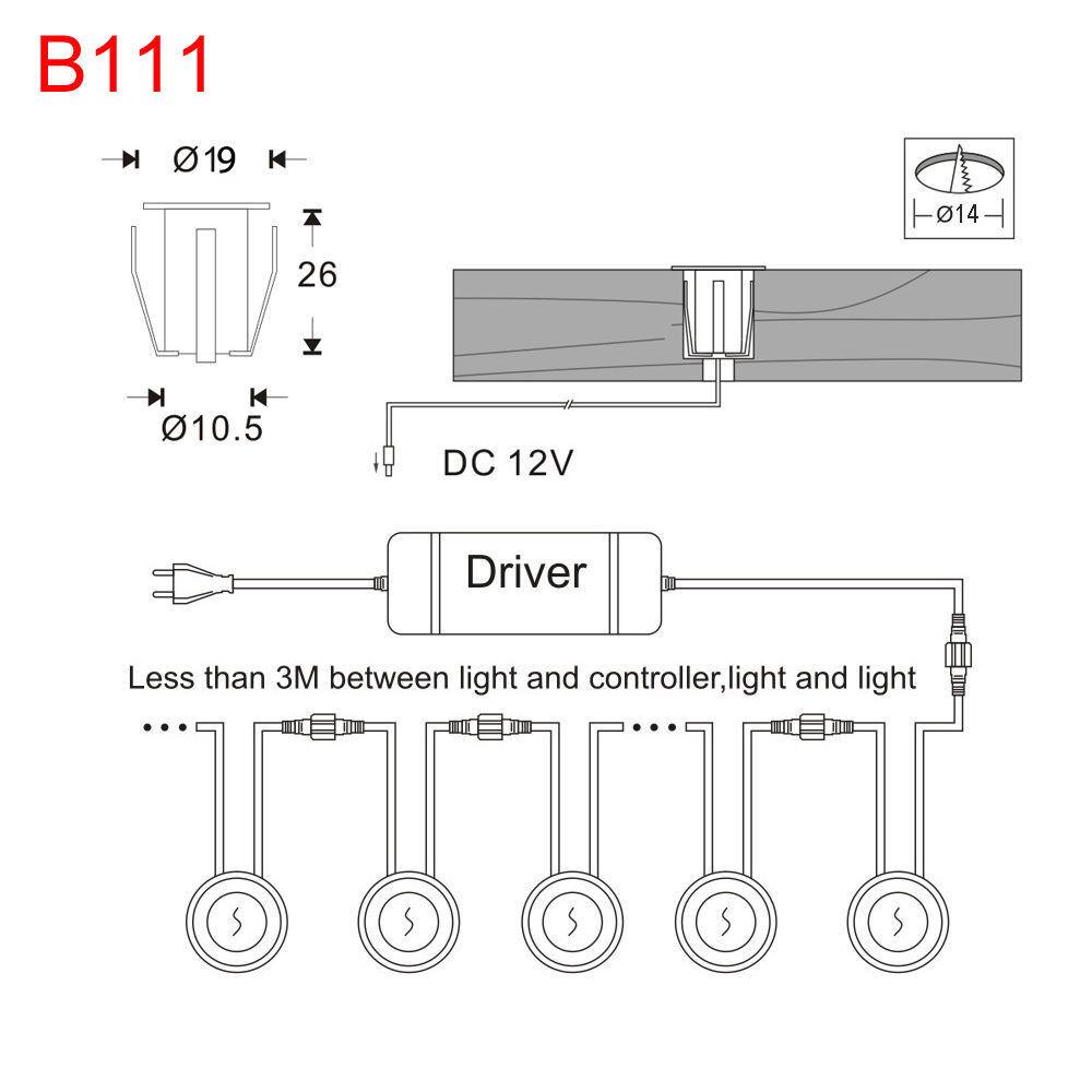 20xWIFI Controller 19mm LED Einbauleuchte Einbaustrahler Außen Außen Außen Garten Lampe Blau | Adoptieren  | Zarte  | Großhandel  848e10
