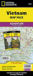 North South Vietnam Adventure Travel Maps Pack National Geographic