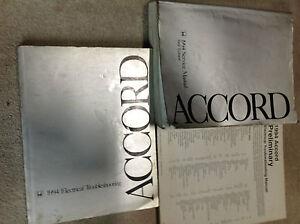1994 Honda Accord Service Shop Repair Manual Set W Wiring Diagrams Books Oem Ebay